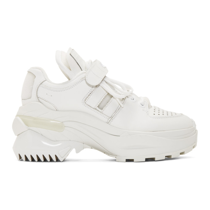 Maison Margiela Low-top Sneakers Retro Fit In Leather White Color In T1003 White