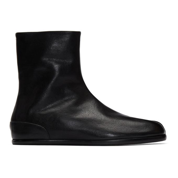 ブラック フラット Tabi ブーツ