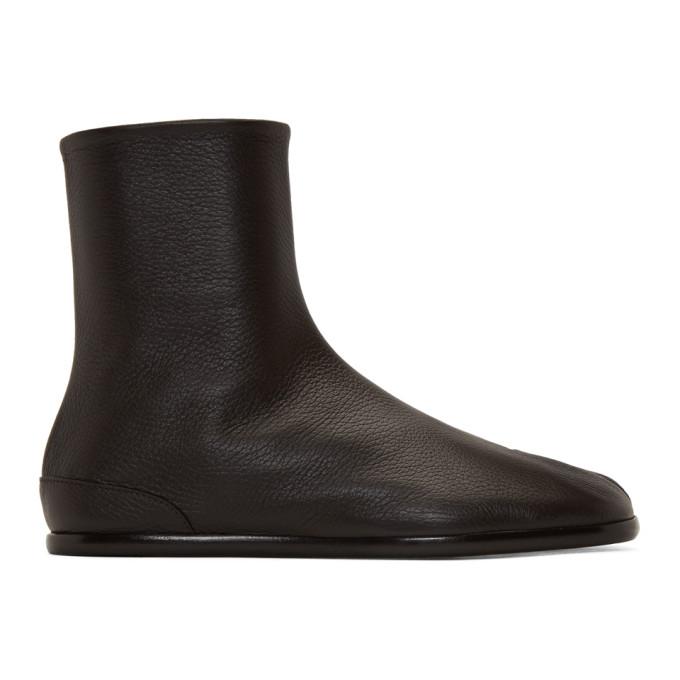 ブラウン フラット Tabi ブーツ