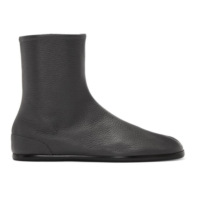 グレー フラット Tabi ブーツ
