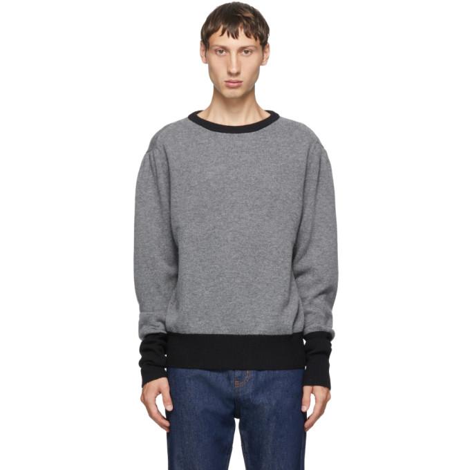 Random Identities Pull a col ras du cou en laine et cachemire gris Contrast