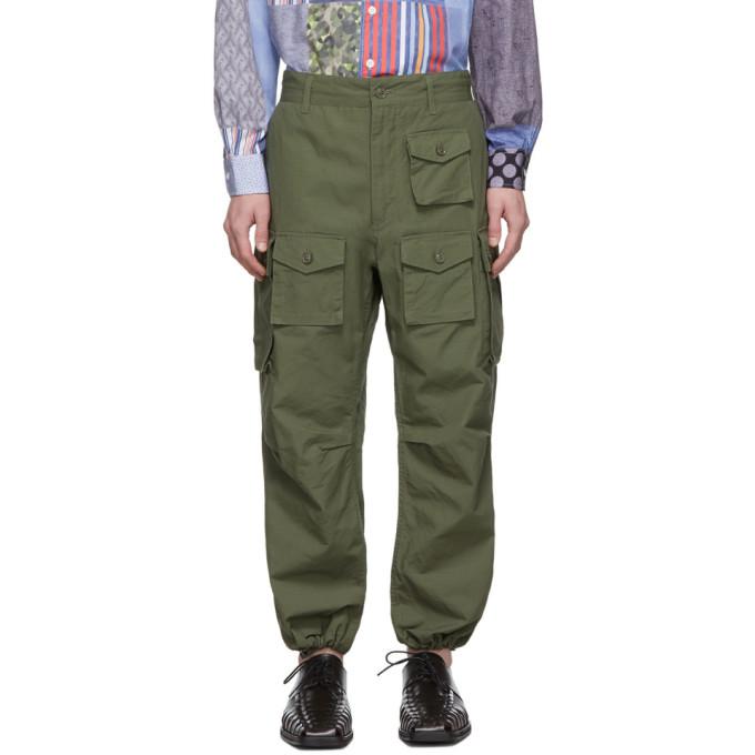 Engineered Garments グリーン コットン カーゴ パンツ