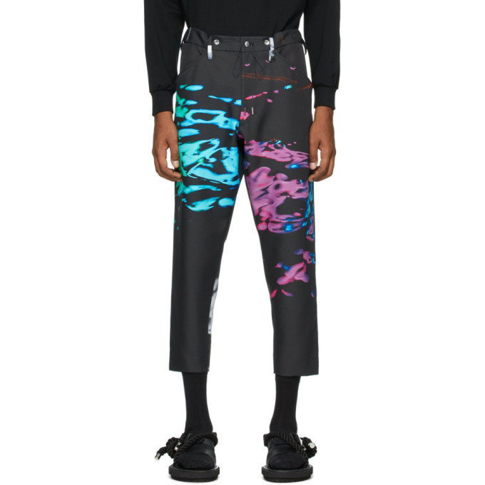 Fumito Ganryu Pantalon noir et multicolore Kurta