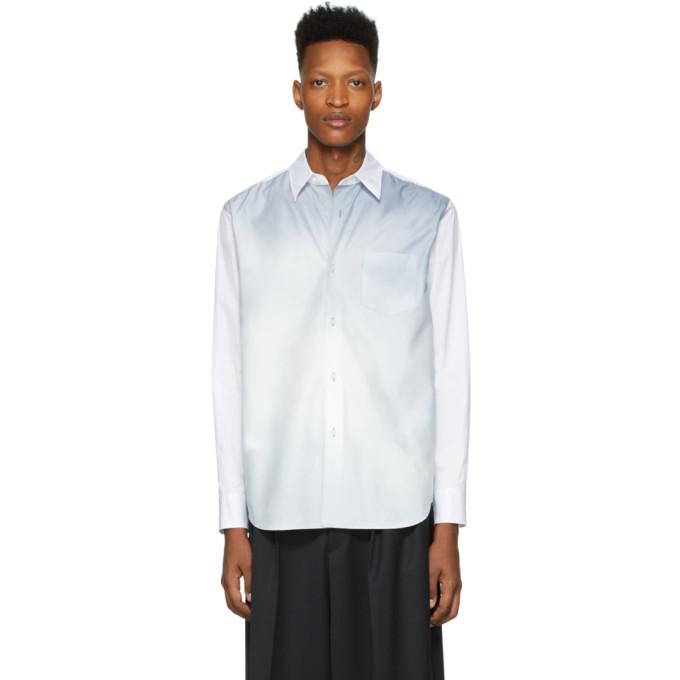 Fumito Ganryu Chemise blanche et bleue Watteau