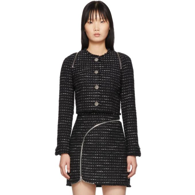 Alexander Wang Alexander Wang Black and White Tweed Zipper Jacket