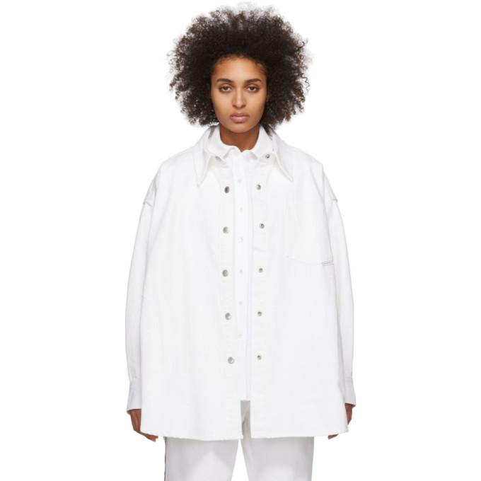 Alexander Wang Chemise en denim blanche Long Jacket