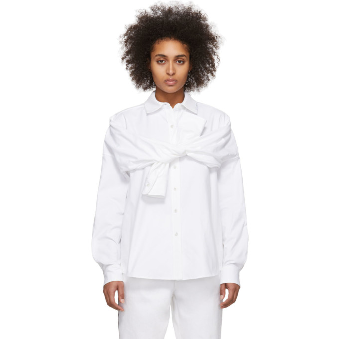 Alexander Wang Chemise blanche Tie Front