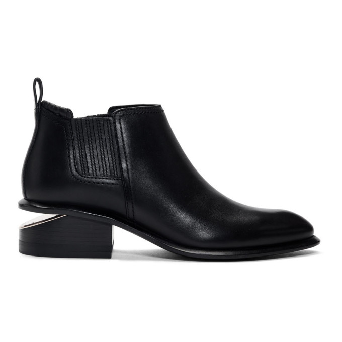 Buy Alexander Wang Black and Rose Gold Kori Boots online
