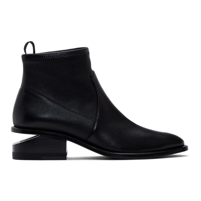 Buy Alexander Wang Black Stretch Kori Boots online
