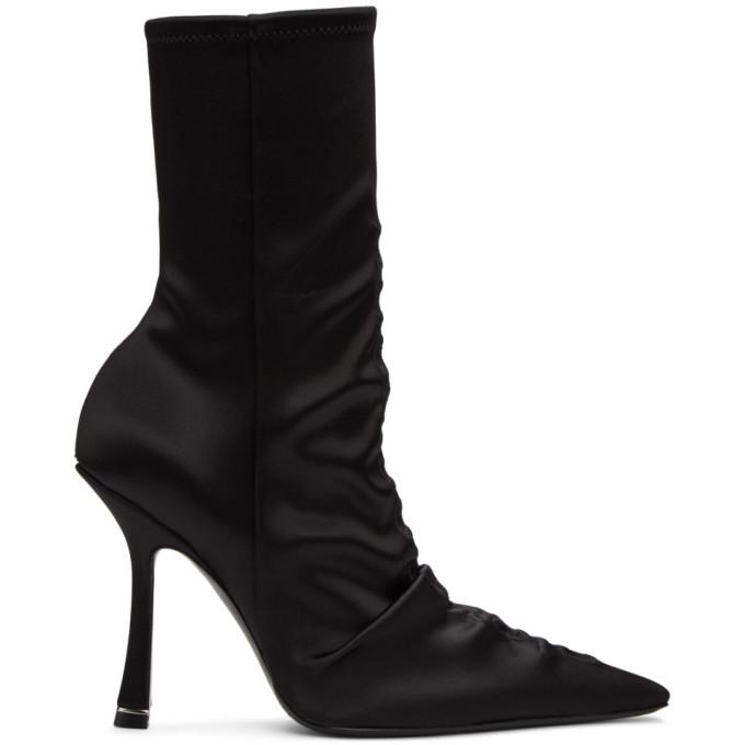 Buy Alexander Wang Black Satin Vanna Boots online