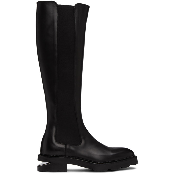 Buy Alexander Wang Black Andy Riding Boots online
