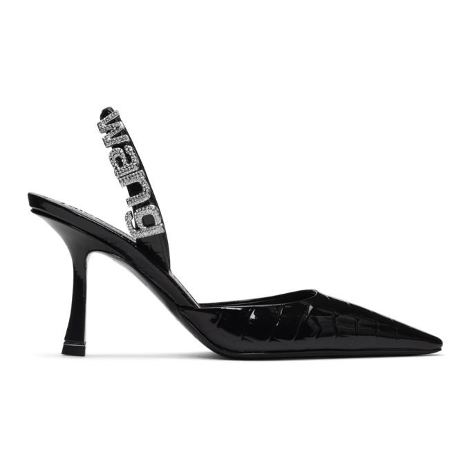 Buy Alexander Wang Black Croc Grace Slingback Heels online