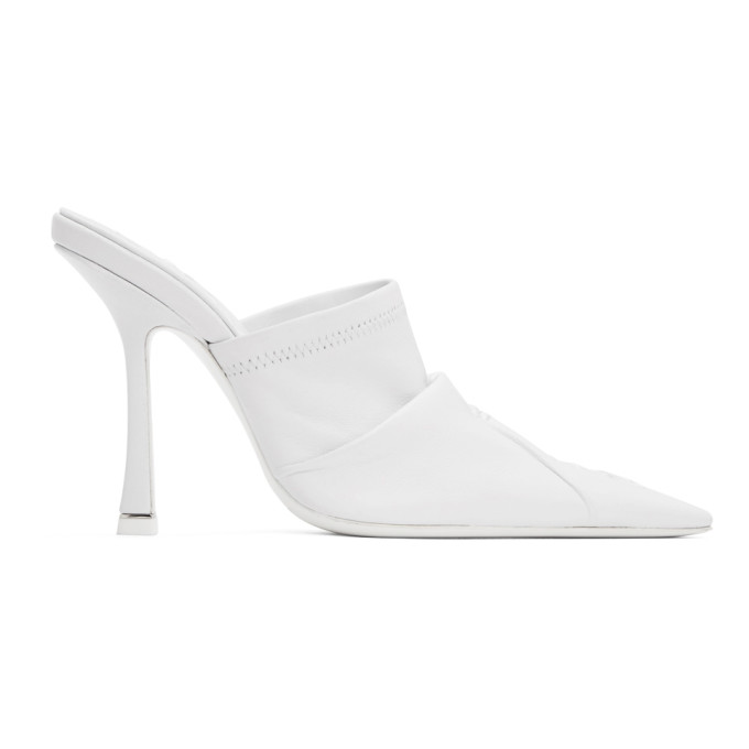 Buy Alexander Wang White Leather Vanna Mules online