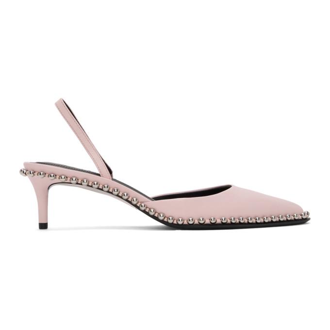 Buy Alexander Wang Pink Low Rina Heels online
