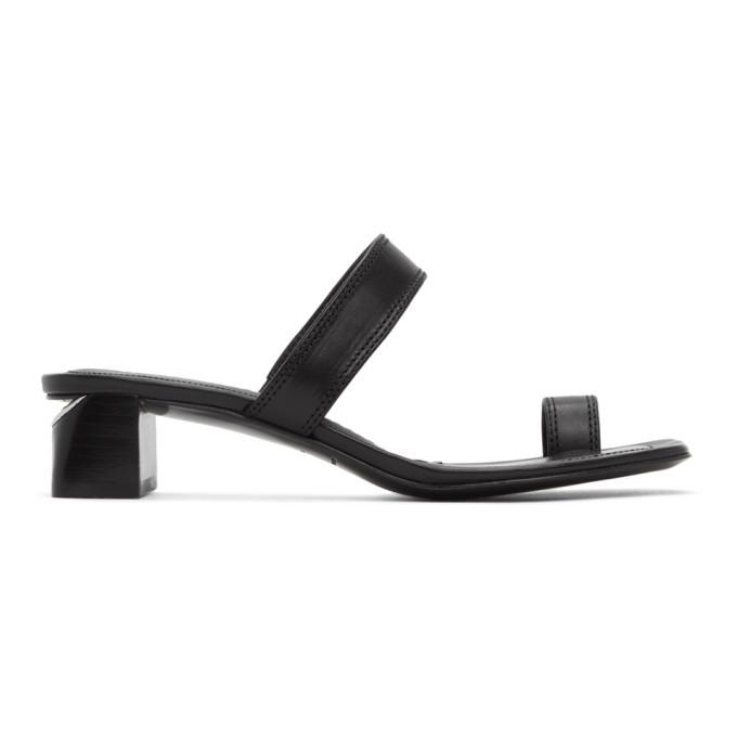 Buy Alexander Wang Black Ellis Heeled Sandals online