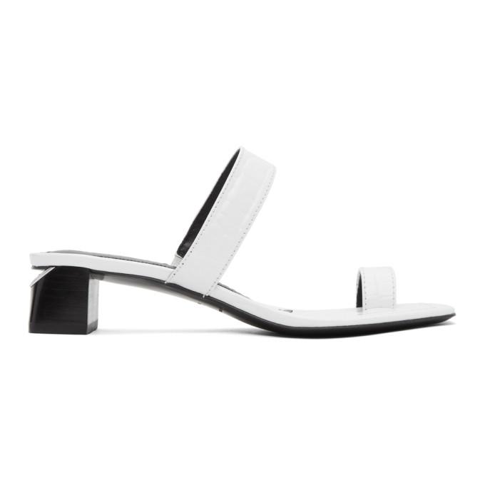 Buy Alexander Wang White Croc Ellis Heeled Sandals online