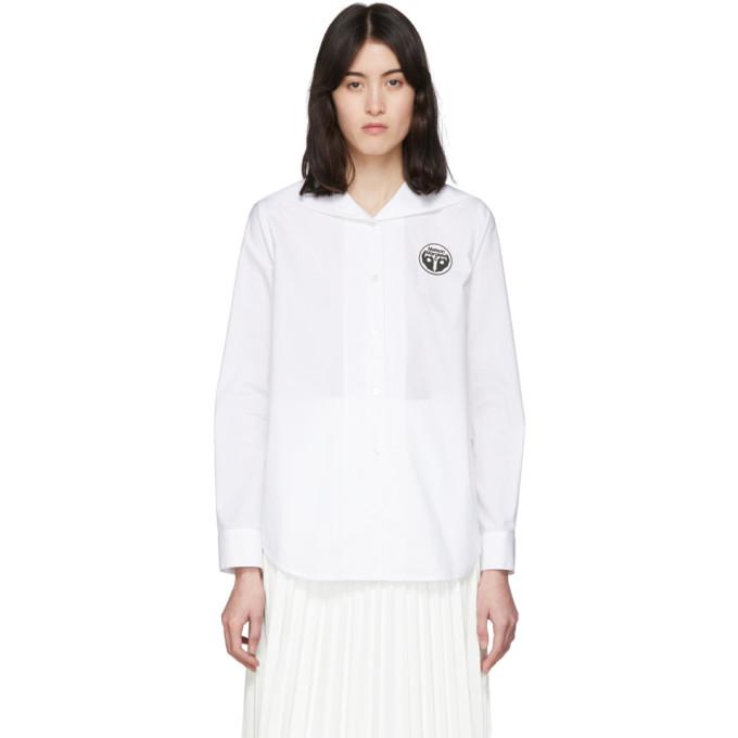 MM6 Maison Margiela Chemise blanche Back Flap