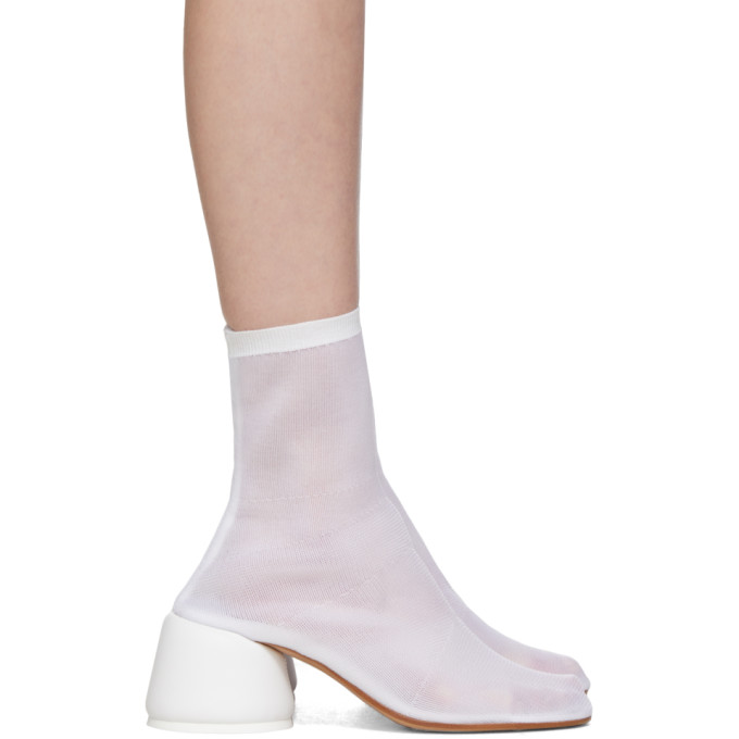 Buy MM6 Maison Margiela White Thin Sock Boots online