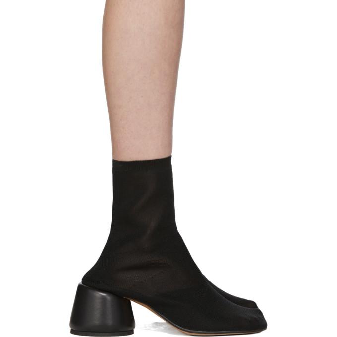 Buy MM6 Maison Margiela Black Thin Sock Boots online