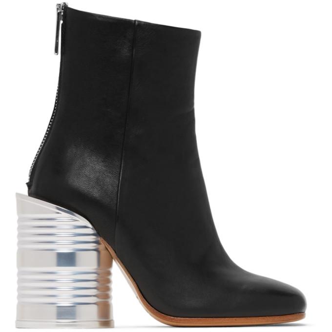 Buy MM6 Maison Margiela Black Can Heel Boots online