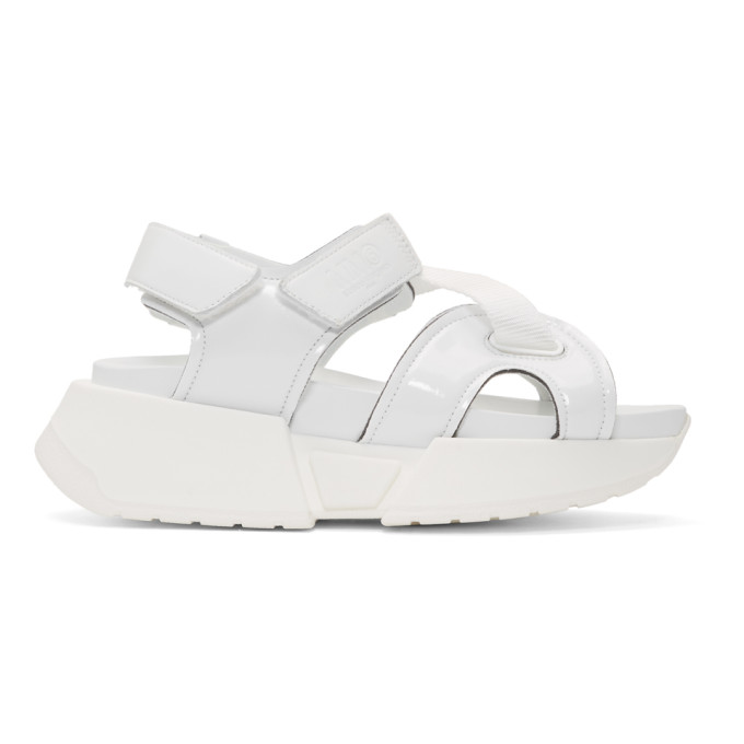 Buy MM6 Maison Margiela White Multi Strap Sandals online