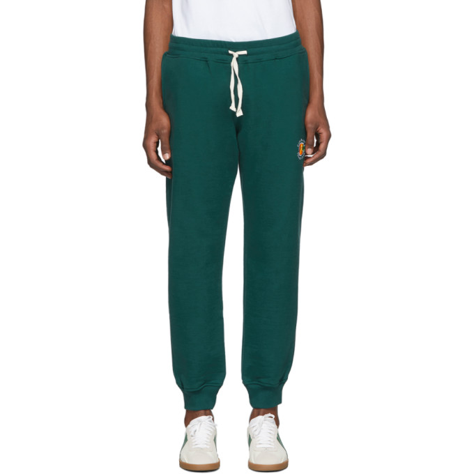 Casablanca Pantalon de survetement vert Tennis Club