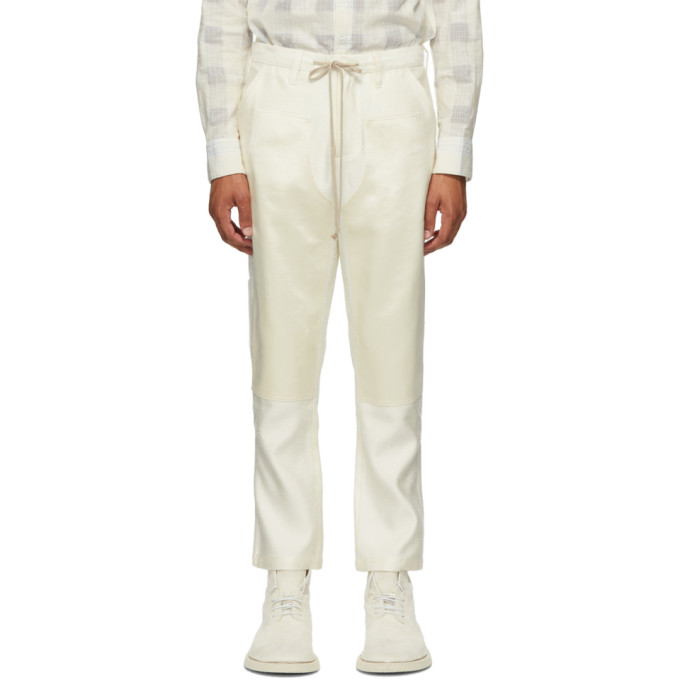 SSENSE Exclusive Off-White Carpenters Patch Trousers