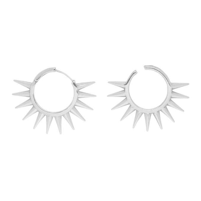 Alan Crocetti ALAN CROCETTI SILVER LOOPHOLE SPUR EARRINGS