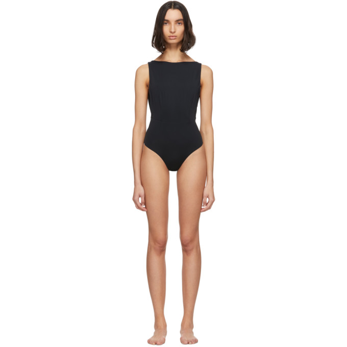 Haight Maillot de bain une piece noir Side Slit
