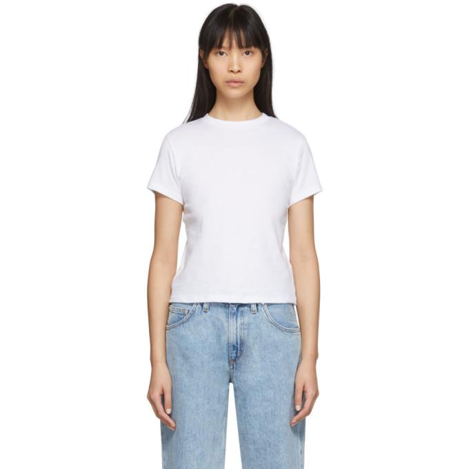 AGOLDE T-shirt blanc Baby