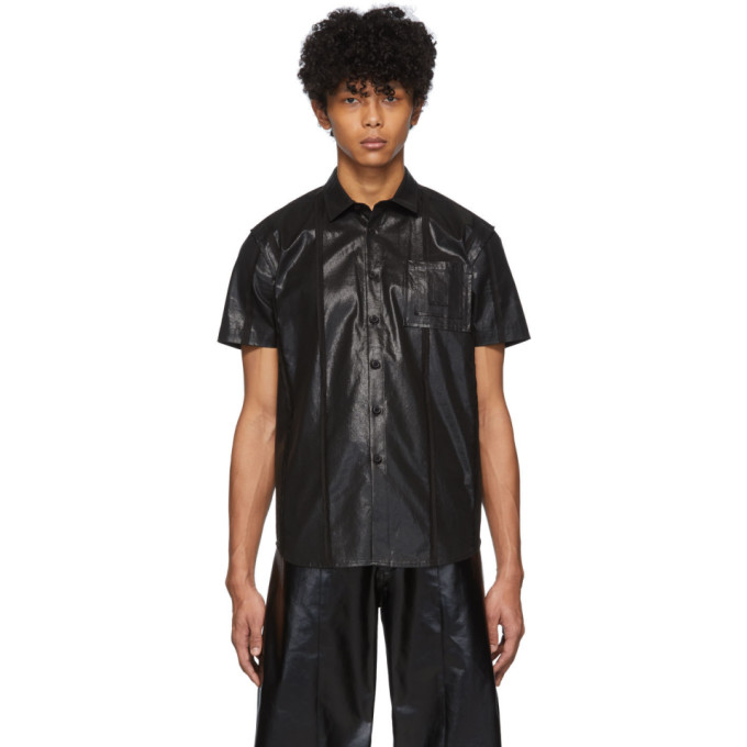 Keenkee Chemise a manches courtes noire Raw Station