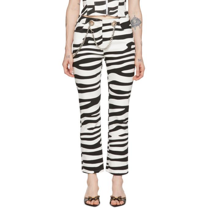 Miaou Jean noir et blanc Tomma Zebra