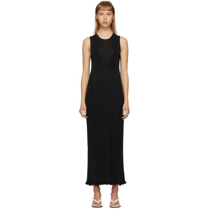 Marina Moscone Robe plissee noire
