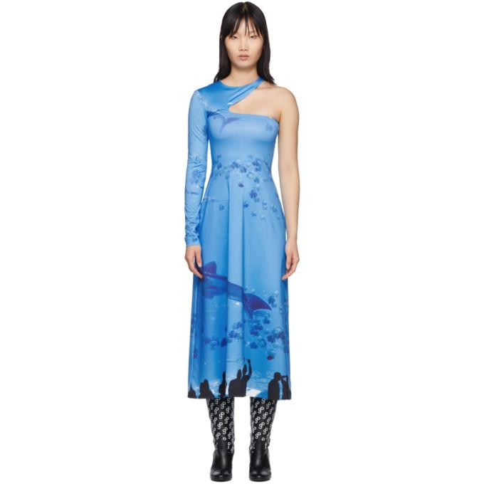 Saks Potts Robe asymetrique bleue exclusive a SSENSE