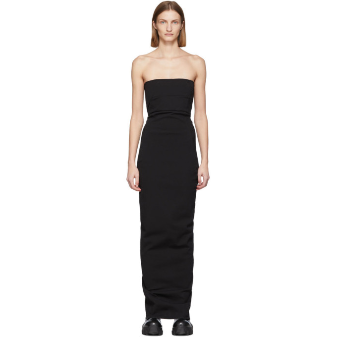 Rick Owens RICK OWENS BLACK BUSTIER GOWN