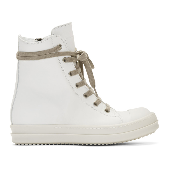 Rick Owens RICK OWENS OFF-WHITE BUMPER HIGH-TOP SNEAKERS