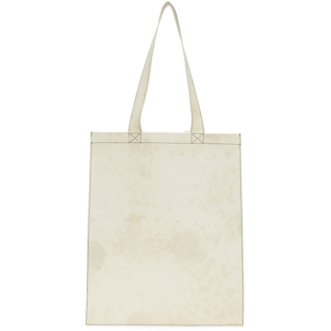 Rick Owens Totes RICK OWENS WHITE LEATHER TOTE