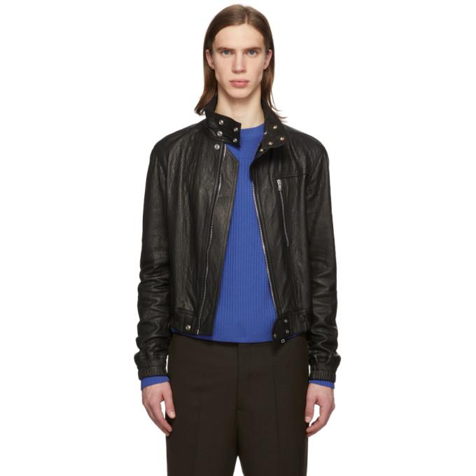 Rick Owens Rick Owens Black Leather IES Bomber Jacket