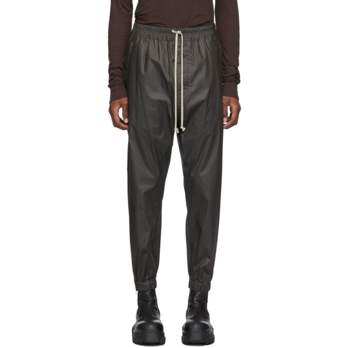 Rick Owens Zipped Cuff Stretch-cotton Track Pants In 09 Black