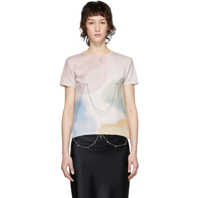 Collina Strada T-shirt a chaines multicolore Pierced edition Charlie Engman