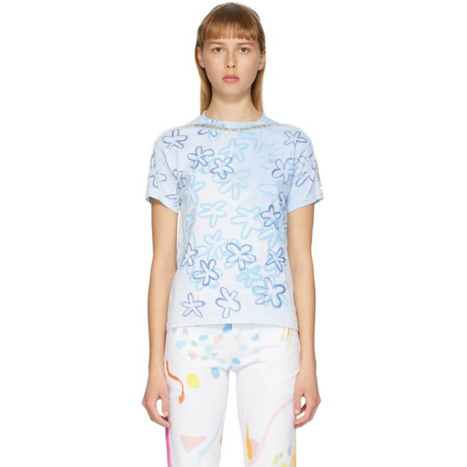 Collina Strada T-shirt blanc et bleu Sporty Spice