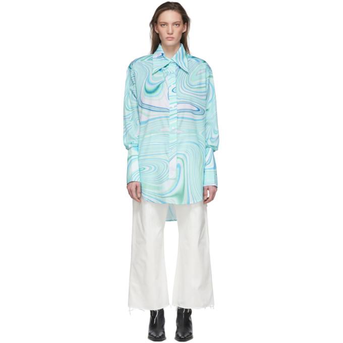 Lecavalier Chemise bleue Oversize Tunic