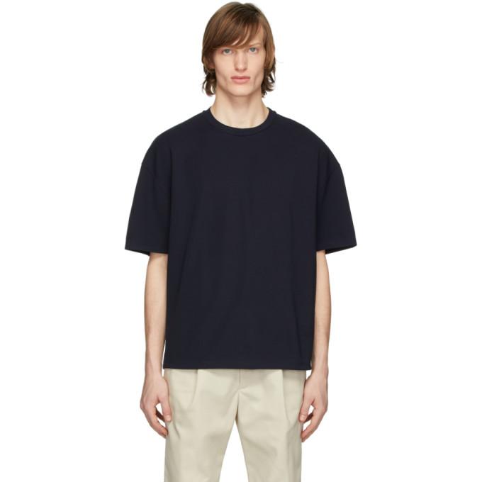 Deveaux New York T-shirt surdimensionne bleu marine