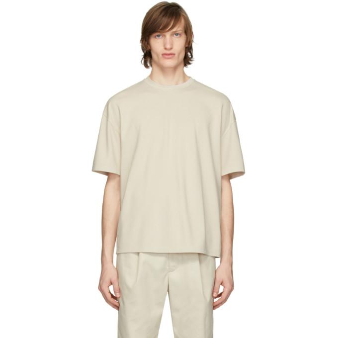 Deveaux New York T-shirt surdimensionne beige