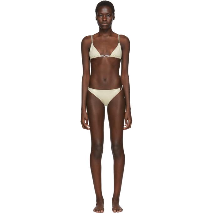Rudi Gernreich Bikini blanc casse Buckle