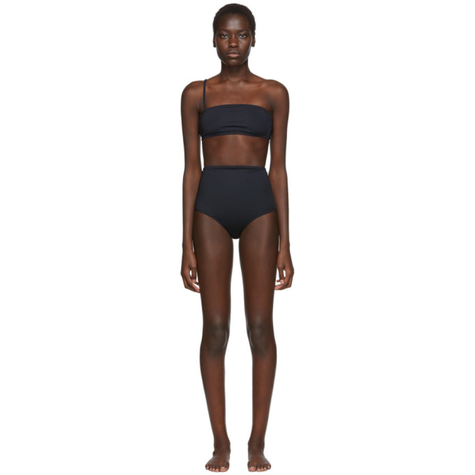 Rudi Gernreich Bikini bandeau a bretelle unique noir
