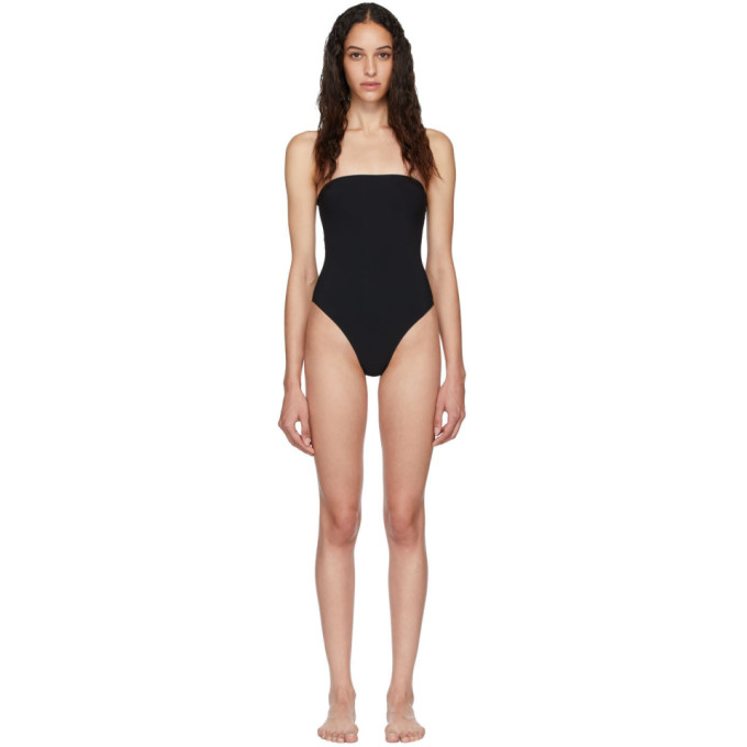 Lido Beachwear LIDO BLACK SEDICI BANDEAU ONE-PIECE SWIMSUIT
