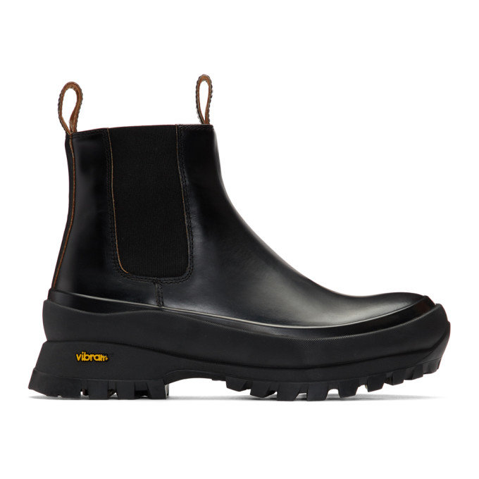 Buy Jil Sander Black Rubber Sole Boots online