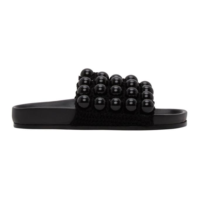 Buy Jil Sander Black Ball Slides online