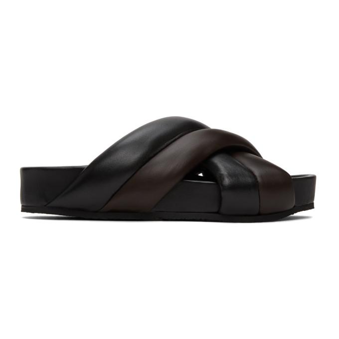 Buy Jil Sander Black Nappa Sandals online